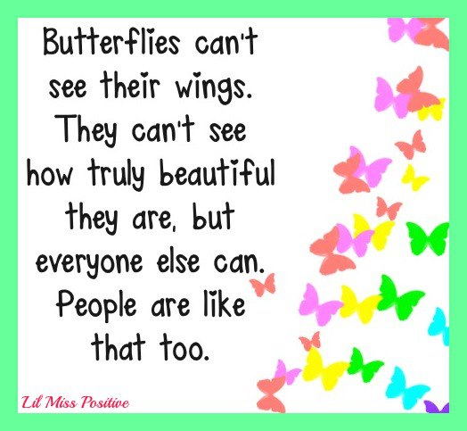 Quote Butterflies Cant See Their Wings