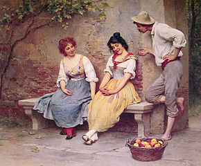 290px-Eugen_de_Blaas_The_Flirtation