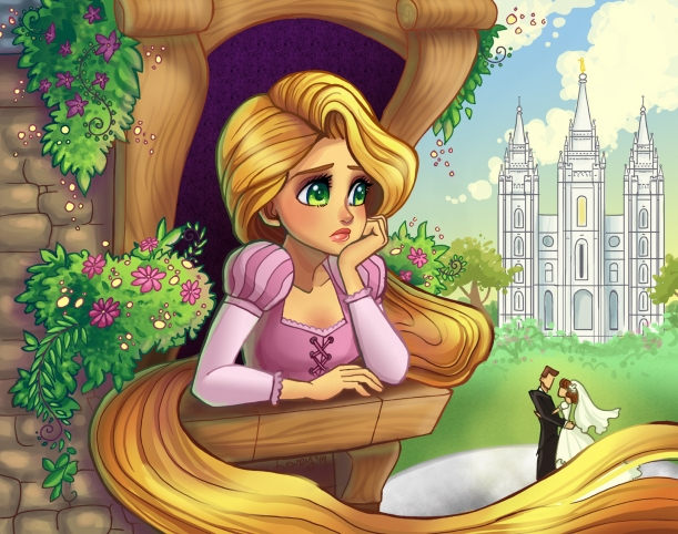 Rapunzel and temple