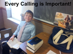 Every Calling is Important !