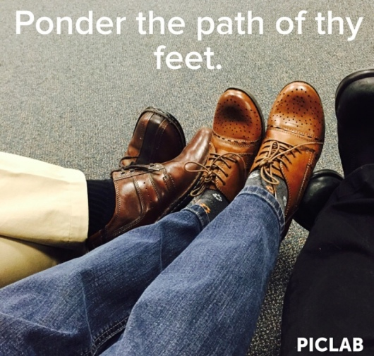 Ponder the path of thy feet(3)